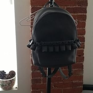 TED BAKER Ruffle Gray Backpack